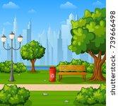 vector illustration of city...   Shutterstock .eps vector #739666498