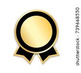 award ribbon isolated. gold... | Shutterstock .eps vector #739668550