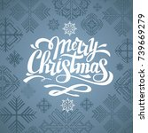 typography hipster christmas... | Shutterstock .eps vector #739669279