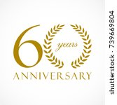 60 years old luxurious logotype.... | Shutterstock .eps vector #739669804