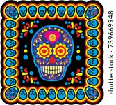 holy death  day of the dead ... | Shutterstock .eps vector #739669948