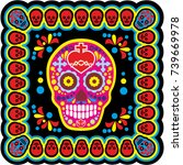 holy death  day of the dead ... | Shutterstock .eps vector #739669978