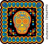 holy death  day of the dead ... | Shutterstock .eps vector #739669990