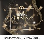 grand opening gold invitation... | Shutterstock .eps vector #739670083