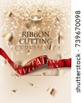 ribbon cutting ceremony... | Shutterstock .eps vector #739670098