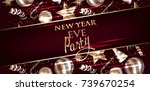 new year eve invitation card...   Shutterstock .eps vector #739670254
