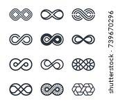 infinity vector symbols and... | Shutterstock .eps vector #739670296