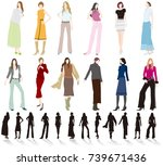 women's fashion   Shutterstock .eps vector #739671436