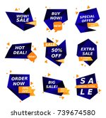 sale stickers collection.... | Shutterstock .eps vector #739674580