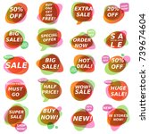 sale stickers collection.... | Shutterstock .eps vector #739674604