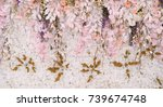 Stock photo flower background backdrop wedding decoration rose pattern 739674748
