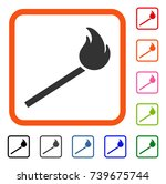 match fire icon. flat grey...
