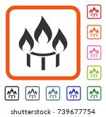 burner nozzle fire icon. flat... | Shutterstock .eps vector #739677754
