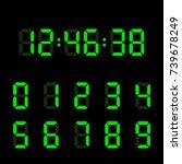 digital clock number set.... | Shutterstock .eps vector #739678249