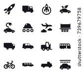 16 vector icon set   rocket ... | Shutterstock .eps vector #739679758