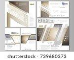 social media posts set.... | Shutterstock .eps vector #739680373