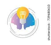 brainstorming  business project ... | Shutterstock .eps vector #739680610