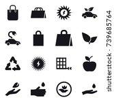 16 vector icon set   shopping... | Shutterstock .eps vector #739685764