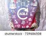 agile industrial engineering... | Shutterstock . vector #739686508