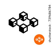 blockchain icon. block chain...   Shutterstock .eps vector #739686784