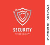 security shield and technology... | Shutterstock .eps vector #739689226