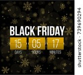 abstract vector black friday... | Shutterstock .eps vector #739690294