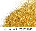 textured background with golden ... | Shutterstock . vector #739691050