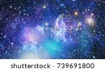 nebula and galaxies in space... | Shutterstock . vector #739691800