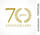 70 years old luxurious logotype.... | Shutterstock .eps vector #739695268