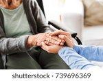 unrecognizable health visitor... | Shutterstock . vector #739696369