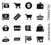 16 vector icon set   shop... | Shutterstock .eps vector #739696750