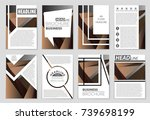 abstract vector layout... | Shutterstock .eps vector #739698199