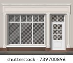 traditional small shop facade... | Shutterstock .eps vector #739700896
