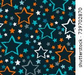 abstract seamless stars pattern.... | Shutterstock .eps vector #739702870