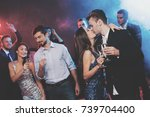 young people have fun at a new... | Shutterstock . vector #739704400