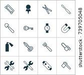 instrument icons set.... | Shutterstock .eps vector #739705048