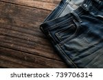 denim jeans texture or denim... | Shutterstock . vector #739706314