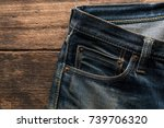 denim jeans texture or denim... | Shutterstock . vector #739706320