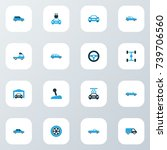 automobile colorful icons set.... | Shutterstock .eps vector #739706560