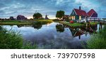 panoramic view of netherlands... | Shutterstock . vector #739707598