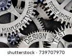 macro photo of tooth wheel...   Shutterstock . vector #739707970
