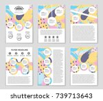 abstract vector layout... | Shutterstock .eps vector #739713643