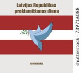 latvia independence day... | Shutterstock .eps vector #739716088