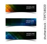 set of abstract  horizontal... | Shutterstock .eps vector #739718020