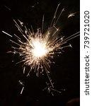 festival crackers sparks   Shutterstock . vector #739721020