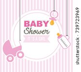 baby shower girl | Shutterstock .eps vector #739723969