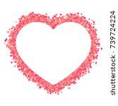 heart confetti shape  bright...   Shutterstock .eps vector #739724224