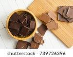 filled  dark and milk... | Shutterstock . vector #739726396