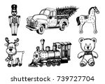 vector hand drawn illustrations ... | Shutterstock .eps vector #739727704