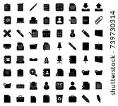 office icons | Shutterstock .eps vector #739730314